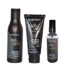 Matrix Optiblack dazzling shine Shampoo 200ml& Conditioner 98g & Serum 100ml Combo