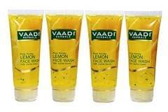 Vaadi Herbals Value Pack Of 4 Honey Lemon Face Wash With Jojoba Beads