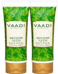 Vaadi Herbal Value Pack of 2 Anti-Acne Neem Face Pack with Clove & Turmeric