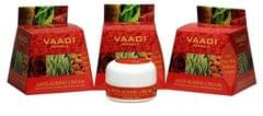 Vaadi Herbals Value Pack Of 3 Anti-Ageing Cream - Almond, Wheatgerm Oil & Rose