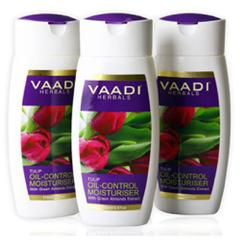 Vaadi Herbals Value Pack Of 3 Tulip Oil Control Moisturiser With Green Almonds Extract