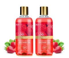 Vaadi Herbals Blushing Strawberry Shower Gel (Pack of 2)