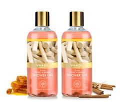 Vaadi Herbals Divine Honey & Sandal Shower Gel (Pack of 2)