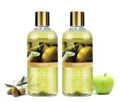 Vaadi Herbals Breezy Olive & Green Apple Shower Gel (Pack of 2)