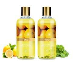 Vaadi Herbals Refreshing Lemon & Basil Shower Gel (Pack of 2)