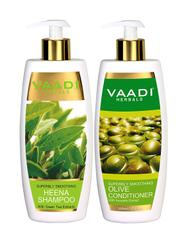 Vaadi Herbals Superbly Smoothing Heena Shampoo with Olive Conditioner