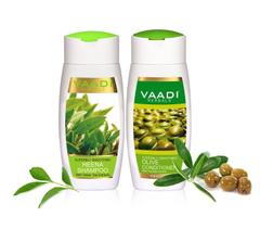 Vaadi Herbals Superbly Smoothing Heena Shampoo with Olive Conditioner 220M