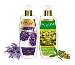 Vaadi Herbals Lavender Shampoo with Olive Conditioner