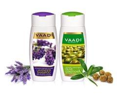 Vaadi Herbals Lavender Shampoo with Olive Conditioner 220ML