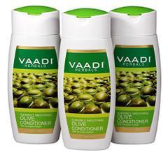 Vaadi Herbals Olive Conditioner with Avocado Extract, 3 x 110ml