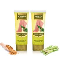 Vaadi Herbals Foot Scrub with Fenugreek and Lemongrass Oil, 110gms x 2