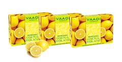 Vaadi Herbals Value Pack Of 3 Refreshing Lemon And Basil Soap