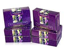 Vaadi Herbals Super Value Heavenly Lavender Soap with Rosemary Extract, 75gms x 6