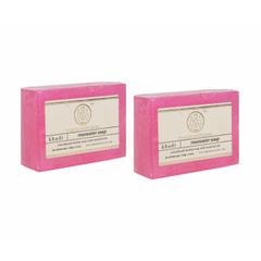 Khadi Natural Herbal Rose Water Soap (Set of 2)