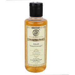 Khadi Orange and Lemongrass Face Wash Sls and Paraben Free, 210ml