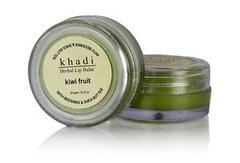 Khadi Natural Natural Kiwi Fruit Lip Balm with Beeswax and Shea Butter, 10g