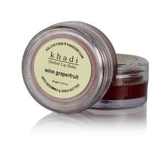 Khadi Natural Wine Grapefruit Lip Balm with Beeswax and Shea Butter, 10g