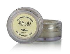 Khadi Lychee Lip Balm With Beeswax & Sheabutter, 10gms