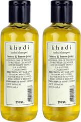 Khadi Herbal Honey & Lemon Juice Shampoo Pack of 2  (420 ml)