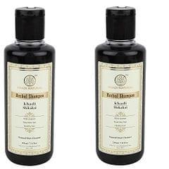 Khadi Herbal Shikakai Shampoo, 210ml (Pack of 2)