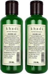Khadi Natural Herbal Neem Sat Shampoo Pack of 2  (210 ml)