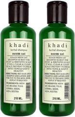 Khadi Natural Herbal Neem Sat Shampoo Pack of 2  (210 ml)