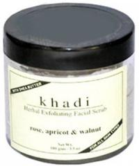 Khadi Natural Apricot & Walnut Cream Scrub with Rose  100g