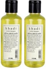 Khadi Natural Saffron, Tulsi & Reetha Shampoo (Set of 2)