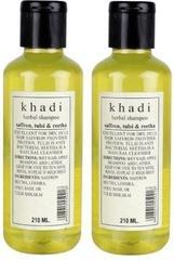 Khadi Natural Saffron, Tulsi & Reetha Shampoo (Set of 2)