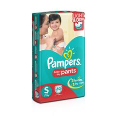 Pampers Small Size Diaper Pants (60 Count)