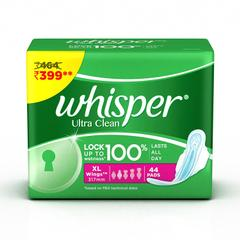 Whisper Ultra Sanitary Pads - 44 Count (Extra Large (XL))