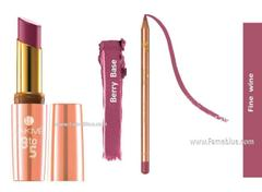 Lakme Lip Combo(9 to 5_Berry Base + Fine wine)