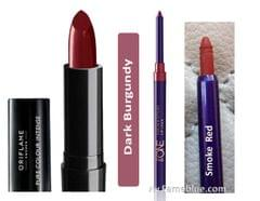Oriflame Lip Combo( Pure Colour_Darling Berry + Smoke Red Liner)