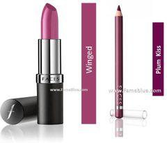 Faces Lip combo (ultimate velvet_Winged + Plum Kiss Liner)