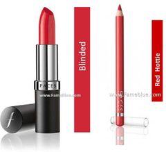 Faces Lip combo (ultimate velvet_Blinded + Red Hottie Liner)