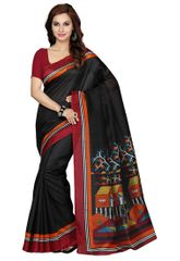 Black Color Bhagalpuri Silk Saree