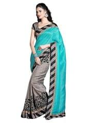 Blue Color Bhagalpuri Silk Saree