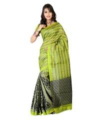 Green Color Bhagalpuri Silk Saree