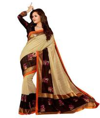 Coffe Color Bhagalpuri Silk New Saree