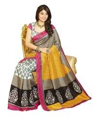 Multi Color Bhagalpuri designer Silk Saree
