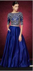 Royal Blue Color Embroidered Designer Lehenga Choli