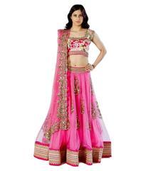 Desginer Pink Embroidered Lehenga Choli_KDN002