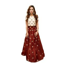 Maroon Color Embroidered Banglori Lehenga Choli_KDN306