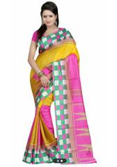 Multi Color Bhagalpuri Silk designer Saree