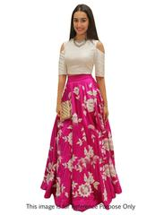 Pink Colour Embroidered Benglori silk DesignerLehenga Choli