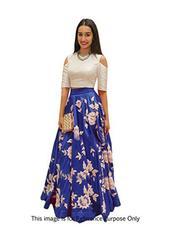 Blue Colour Embroidered Benglori silk DesignerLehenga Choli