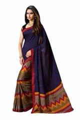 Multi Color Printed Bhaglpuri Designer Saree