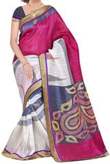 pink Color Bhagalpuri Silk Saree