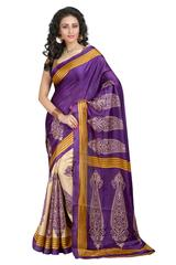 Purple Color Printed Bhaglpuri Designer Saree