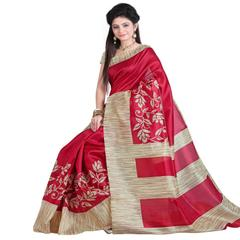 RED Color Bhagalpuri Silk Saree